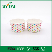 Various sizes hot sale PE coated custom logo printed paper ice cream containers