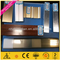 WOW!!!Hot sale anodizing brush silvery profiles for dubai aluminium/white anodizing color samples aluminum extrusion