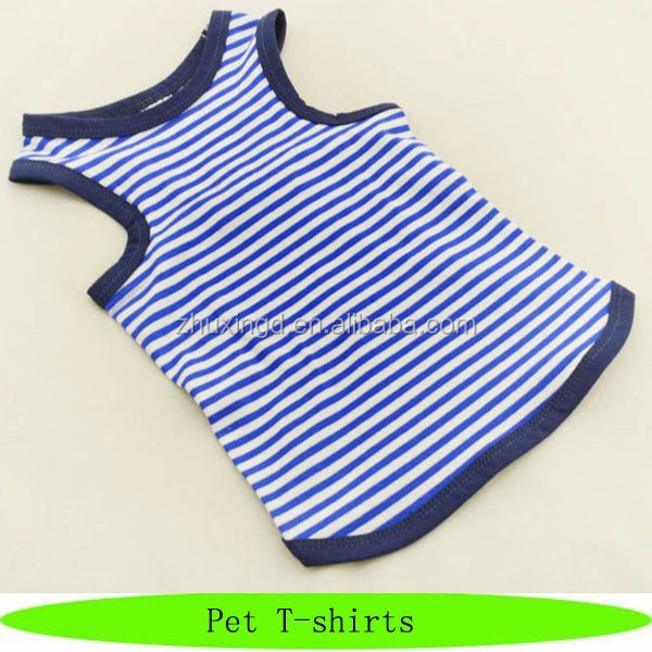 New striped summer pet tank top, 8 XL dog large size t shirt clothes