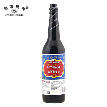 No MSG gluten free light soy sauce hot selling 625ml