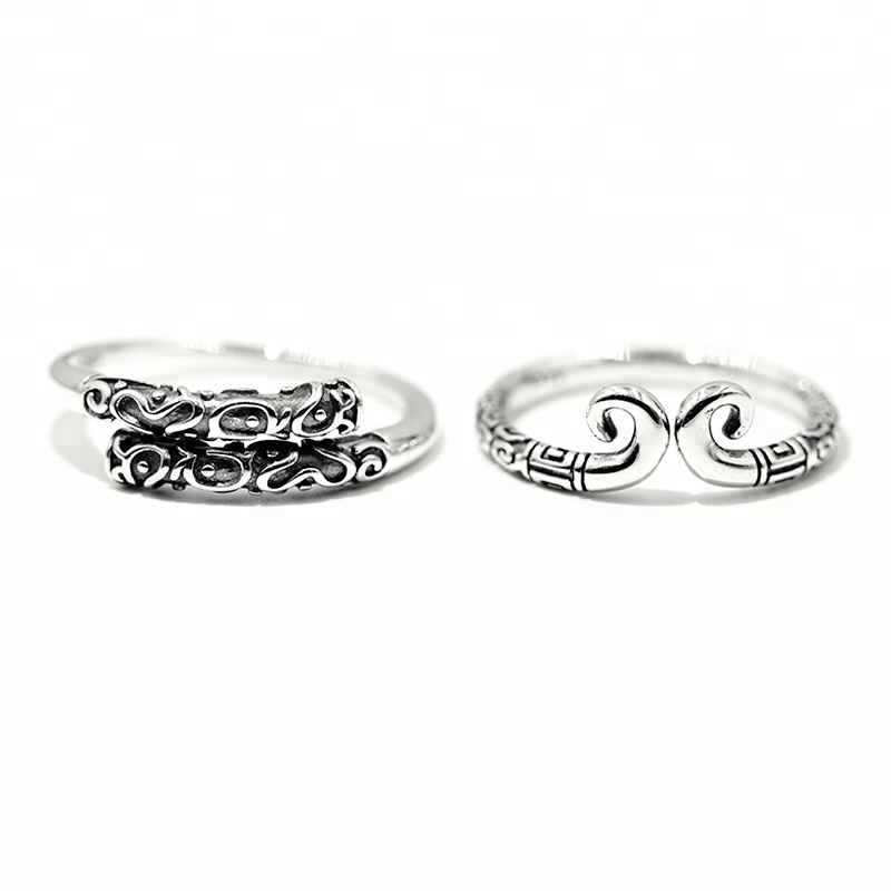 S925 Sterling Thai Silver rings Sun WuKong boxing ring <strong>jewelry</strong>