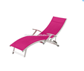 CH-CSL002 beach sun lounger with mesh fabric and aluminum frame