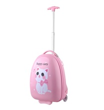 new coming lovely design cat trendy trolley bags for kids