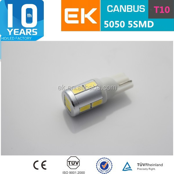 High Power T10 Canbus LED 5630 SMD led t10 5smd 5050