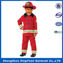 New Style OEM Service Kids Masquerade Fireman Costume