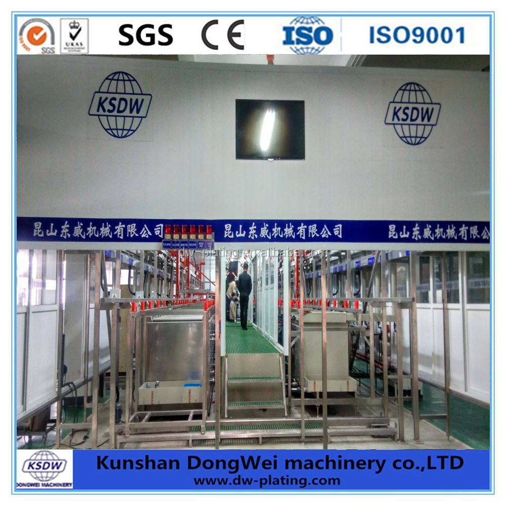 Automatic electroplating equipment professional galvanizing plant