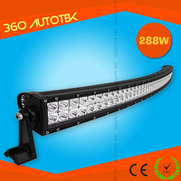 50 inch 288W 4x4 Led Car Light, Curved Led Light bar Off road,battery powered super bright led light