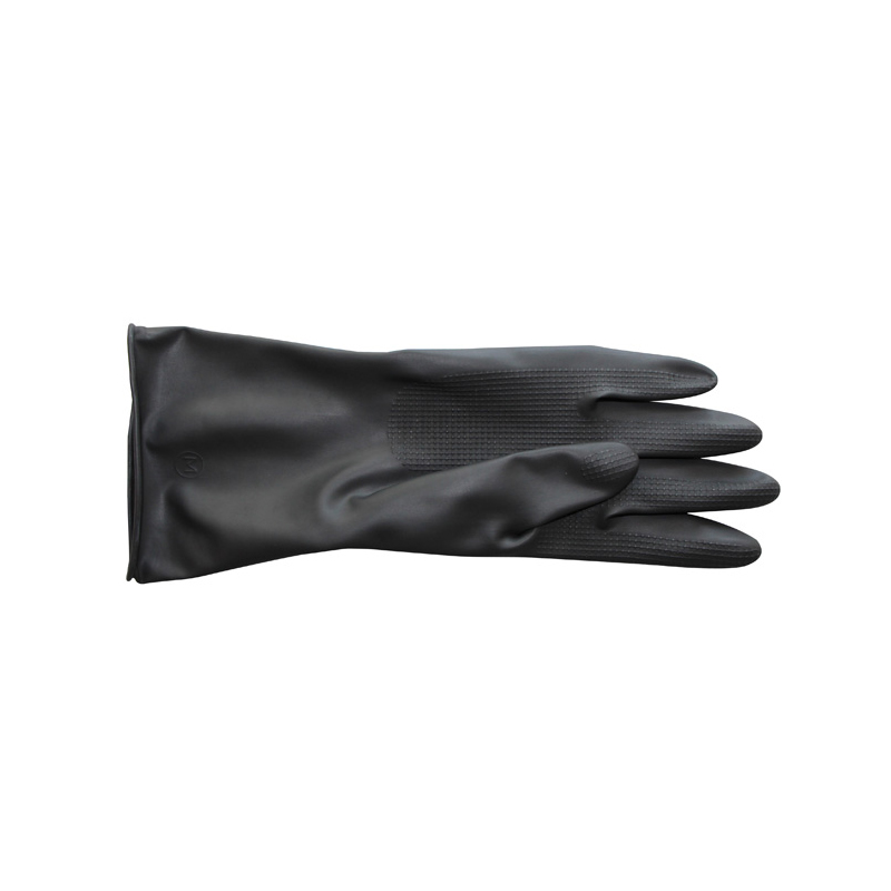 Heavy Duty Good Quality High classs Rubber Medium Industrial use Black Rubber gloves