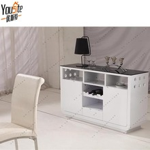 Fancy design Black and white high gloss buffet