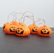 Halloween decorations pumpkin lamp string lights