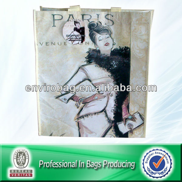 PARIS pp nonwoven bag for shopping/promotion Matt/Glossy Lamination