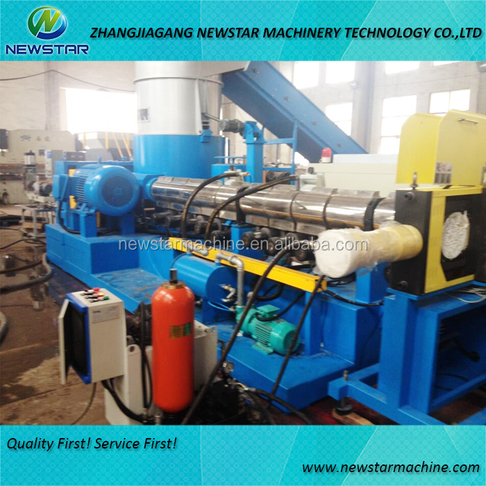 PE granulating extruder plastic recycle granules making machine price