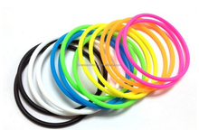 cheap price no slip grip bright jelly ponytailers colorful elastic rubber hair band with charm