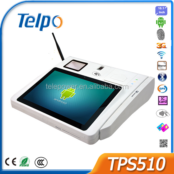 Telepower TPS510 10 Inch Android Tablet Smart Card POS Terminal with Keyboard