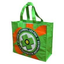 2016 hot sale recyclable bopp laminated tote pp woven shopping bag,pp woven shoppin gbag.
