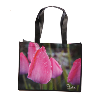 promotional tote laminated shopping non woven t-shirt bag