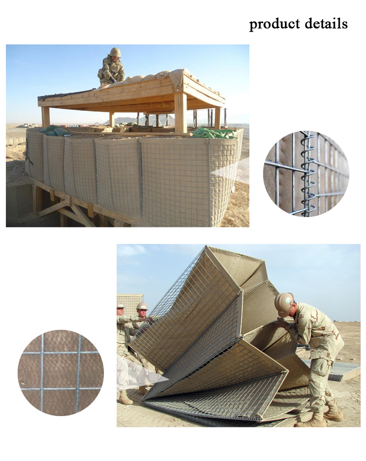 High quality galvanized welded mesh hesco barriers for sale