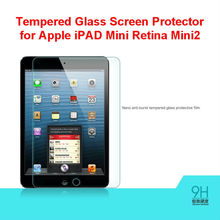 New Product Wholesale 0.3mm 2.5D 9H Round edge Anti-Burst Tempered Glass Screen Protector for Apple iPAD Mini Retina Mini2