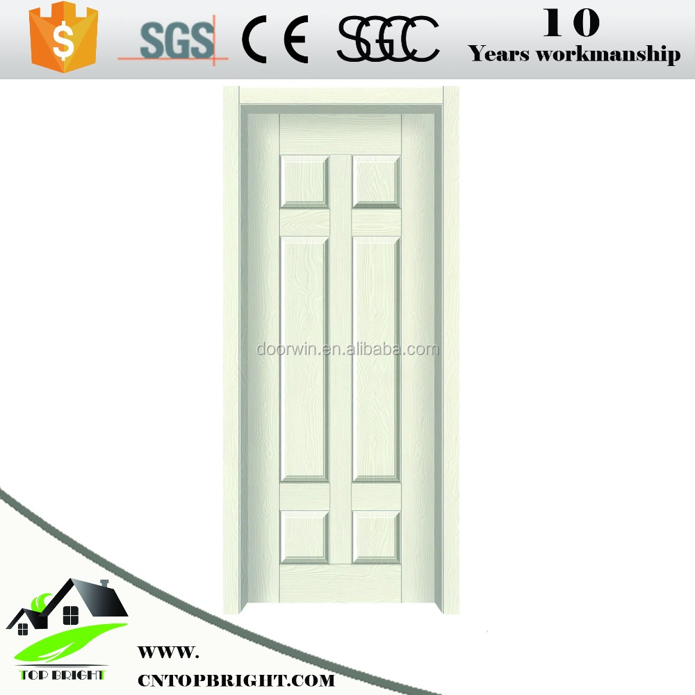 Interior PVC veneer coated wooden doors