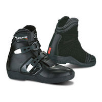 Two buckles, short stylish motorcycle black boots