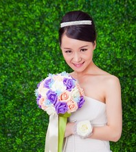 Round Artificial Wedding Rose Ball artificial flower ball