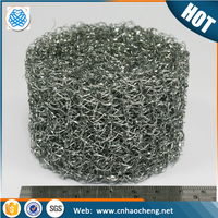 High Filtering Performance Knitted Wire Mesh/Compressed knitted mesh/Knitted mesh filter