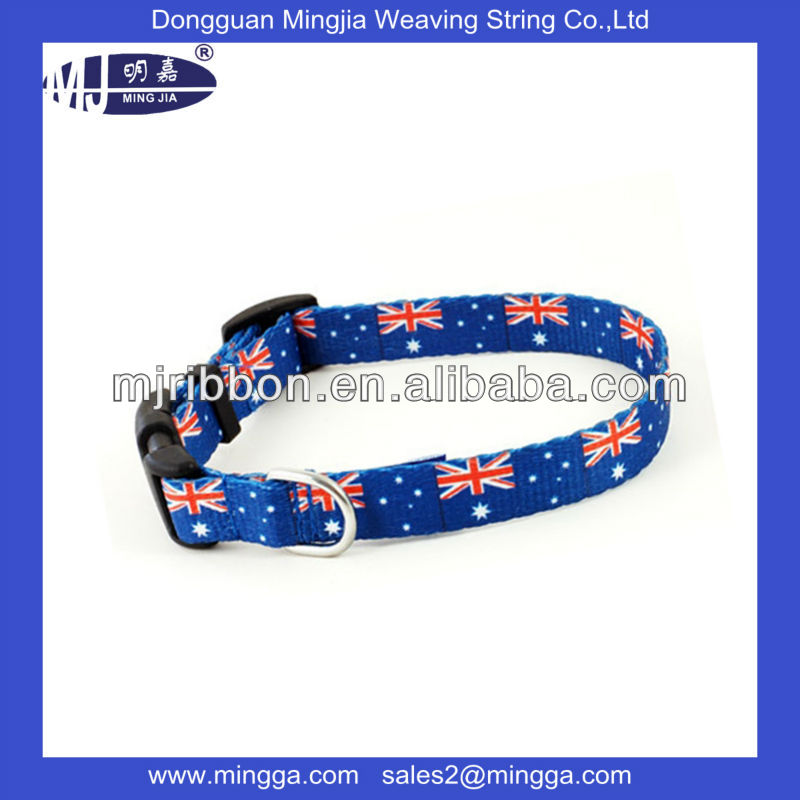 customized eco-friendly heat transfer printing dog collar for promotion