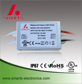 constant current MR16 led downlight driver 320mA 10W