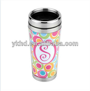 USA hot selling 16oz stainless steel thermal photo changeable travel mug