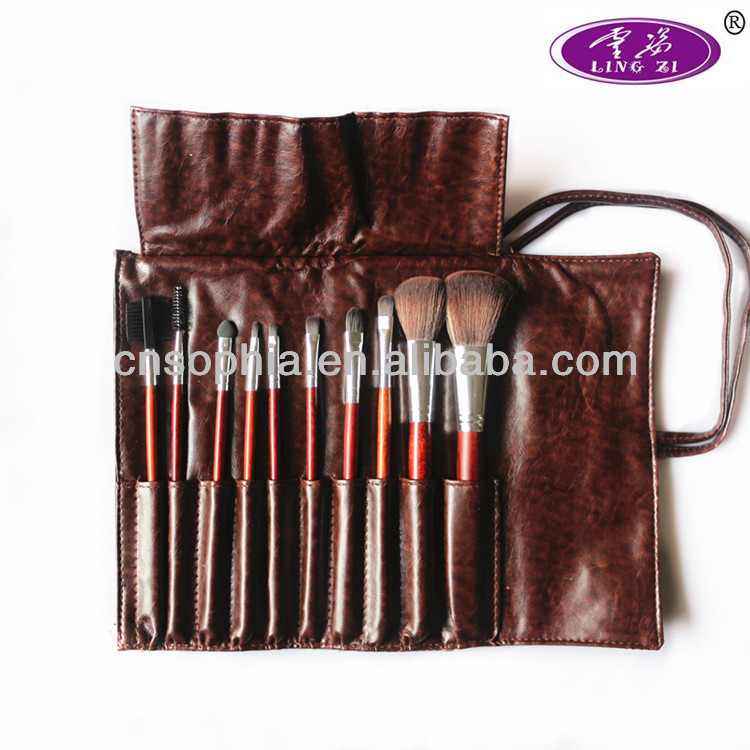10 pcs synthetic makeup brushes