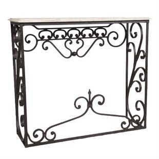 wrought iron cher console