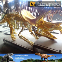 My-dino dinopark dinosaurs fossil replica golden skeleton