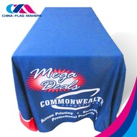 custom logo print disposal advertise polyester table cloth