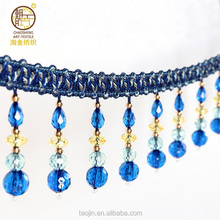 2018 new design fine ring beads fringe