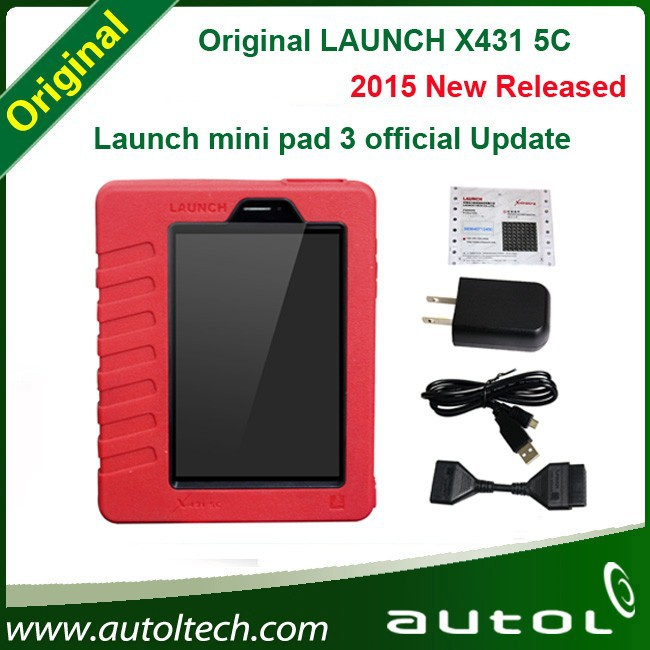 OBD cable New Arrivals Launch X431 5C(X431 5C 5 v) Wifi/ Bluetooth Tablet Full System Launch mini pad 3 official Update free