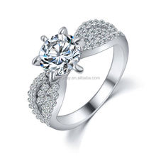 alloy female big engagement mini dress ring