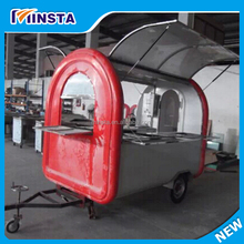 China Street Mobile Metal Hot Dog Food Kiosk,Stainless Steel Food Service Carts with Wheels