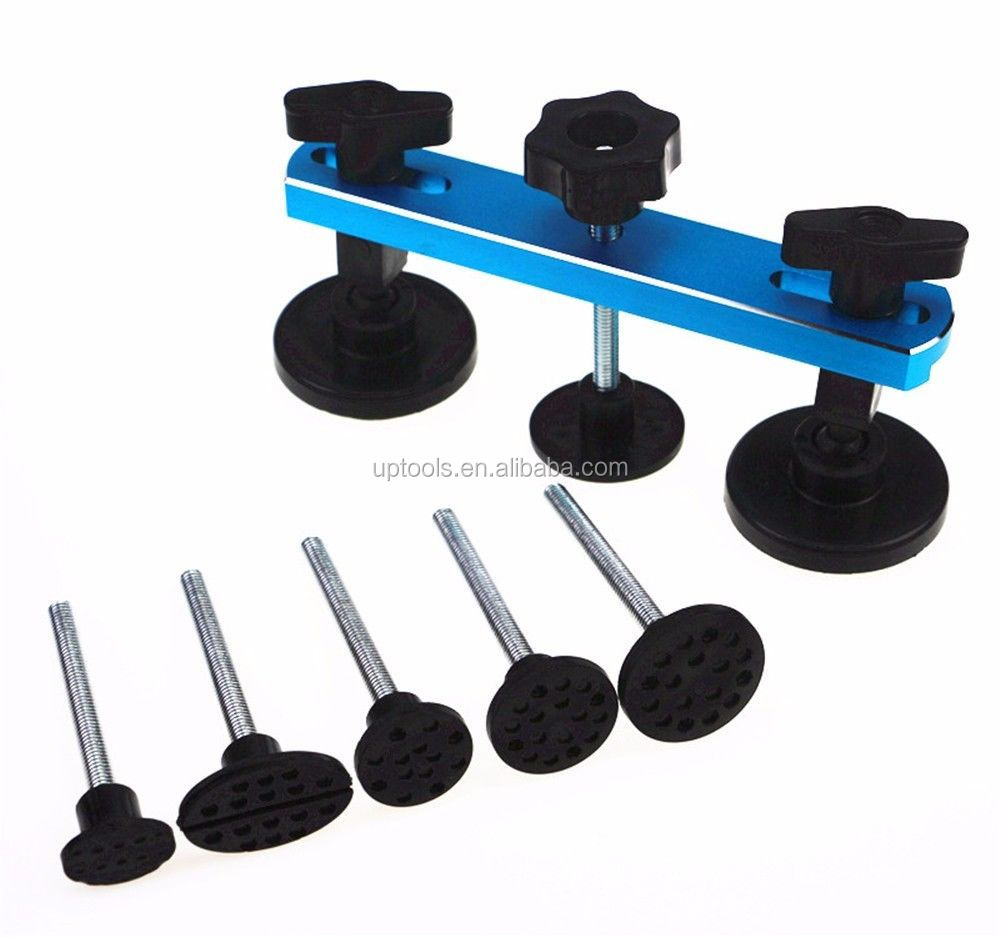 PDR Puller Pulling Bridge Sets w/ 6 pcsTabsCar Paintless Dent Repair Tools