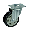 WBD Wholesale 4inch 100kg PVC Roller bearing Caster Trolley Wheels