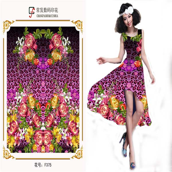 Digital Print jacquard brocade fabric for dress