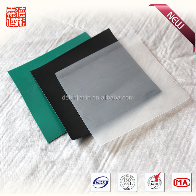 flexible plastic panel of construction material