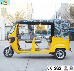2018 best sale electric three wheel car for sale taxi used tricycle/adult electric power motor passenger