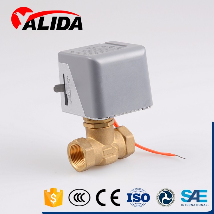 Brass two-way electro magnetic liner actuator for hvac parts