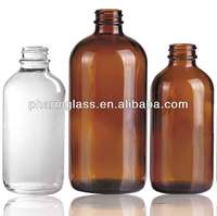Boston Round Glass Bottles : Amber, Cobalt Blue, & Flint