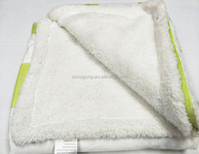 Custom design color size weight micro fleece sherpa blanket