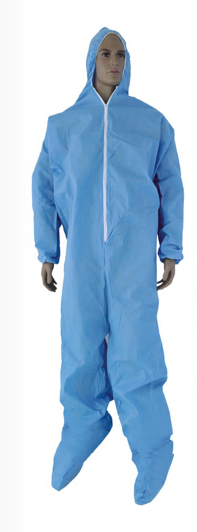 Export low price non-woven or plastic disposable smock gown