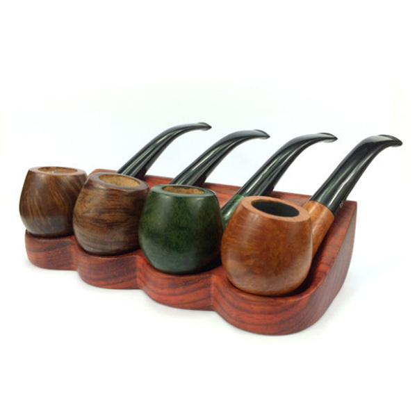 Wooden Rack Holder for 4 Tobacco Smoking Pipes