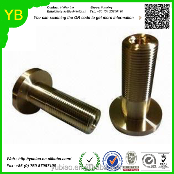 Custom cnc turning brass tube internal threaded brass tube