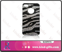 Funky stripe style sparkle bling diamond funny cheap mobile phone case wholesale