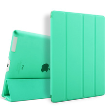 2017 Ultra Slim Luxury Leather Back Cover Flip Case for iPad 2 3 4 Smart Cover
